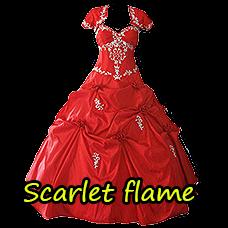 "Dress ""Scarlet Flame"""