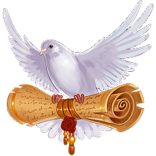 Dove with a letter
